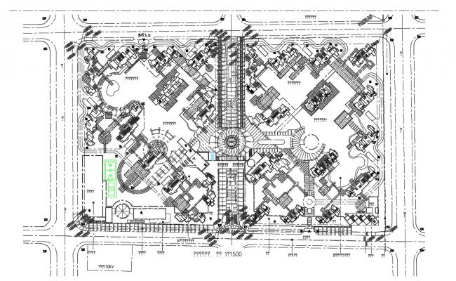 Architecture Master Plan AutoCAD Drawing