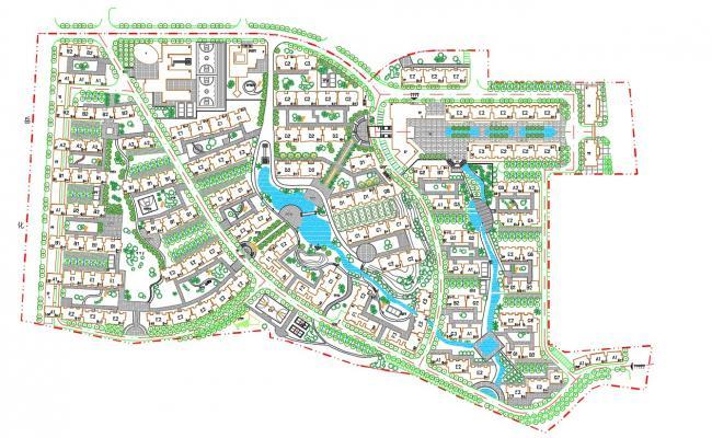 Architecture Master Plan AutoCAD File
