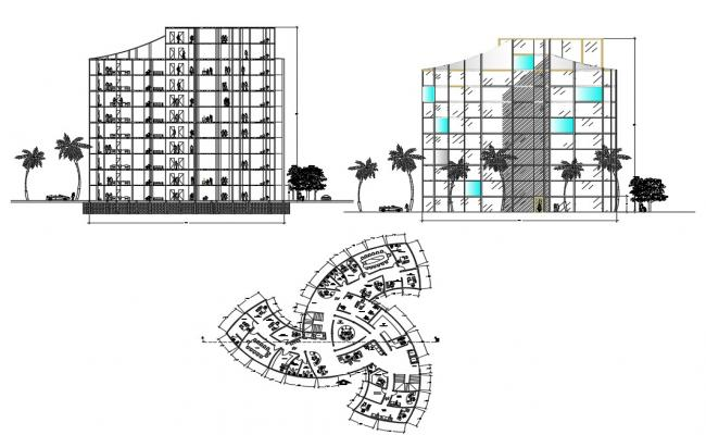 Architecture Office Building Project DWG File