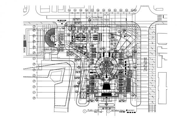 Architecture Office Floor Plan AutoCAD File