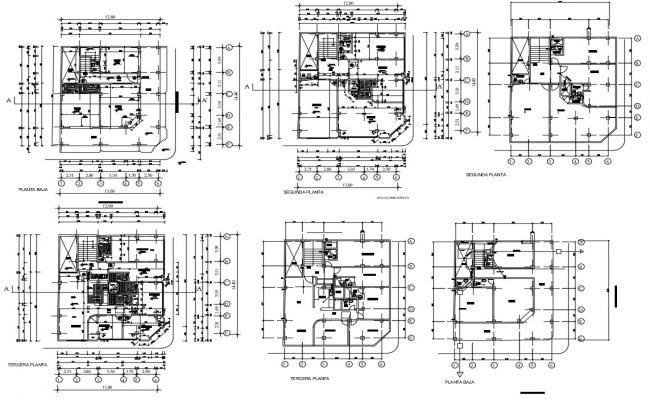 Architecture Office Floor Plan DWG File