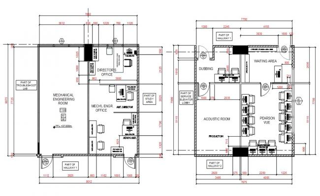 Architecture Office Plan AutoCAD File