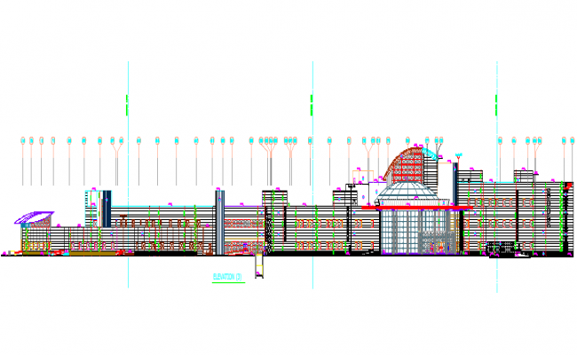 Architecture Plan of Government Museum dwg  file