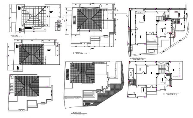 Architecture Roof House Plan AutoCAD file