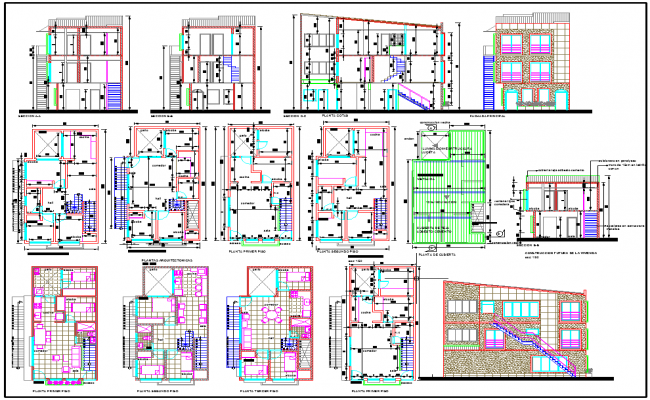 Architecture house layout plan design dwg file