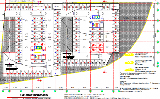 Architecture layout plan details of high rise building dwg file