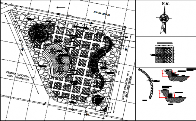 Architecture plan detail dwg file