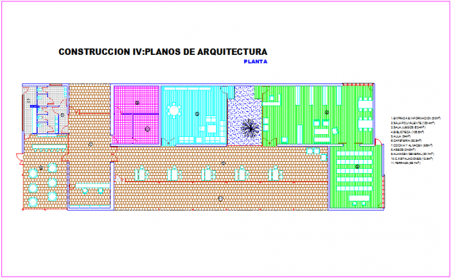 Architecture plan of club house dwg file