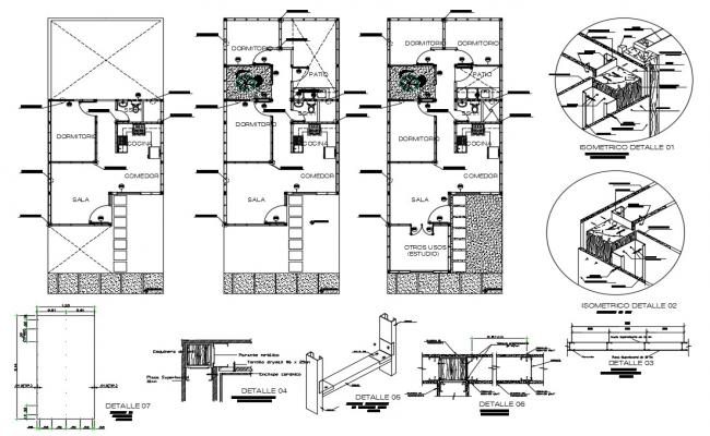 Architectural house plans in AutoCAD file