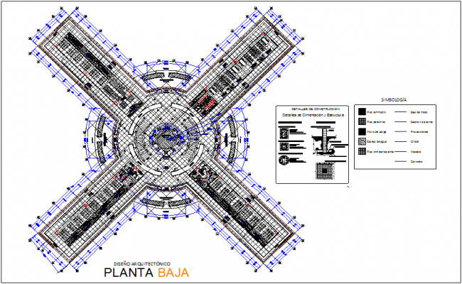 Architecture plan view of university view with classroom dwg file