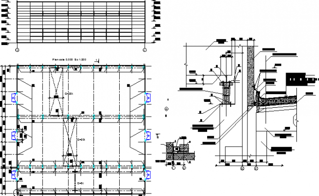 Architecture project of industrial plant building dwg file