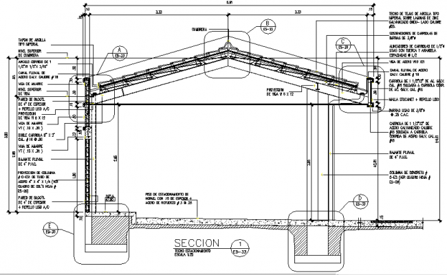 Architecture section detail dwg file