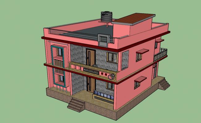 Architecture 3D Modern House Building Design