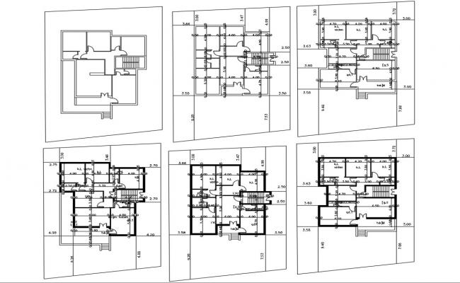 Architecture AutoCAD House Plan CAD Drawing