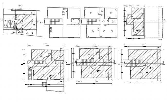 Architecture House Plan Design AutoCAD Drawing