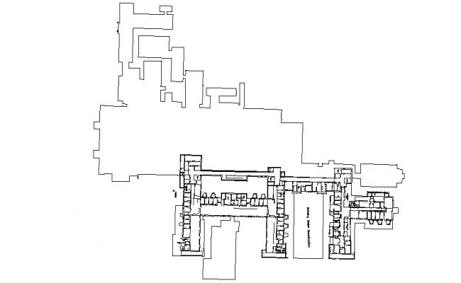 Area Plot CAD Layout Drawing