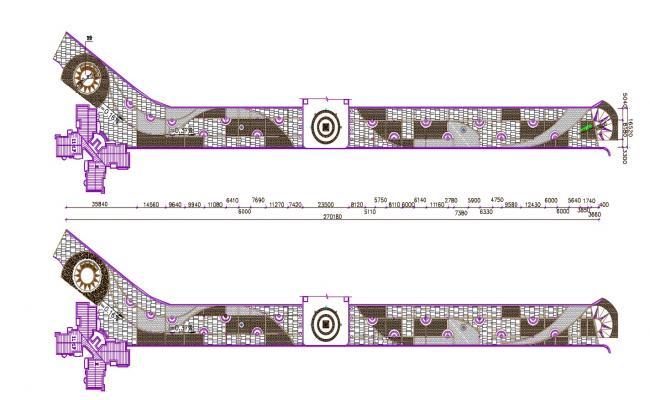 landscaping Floor Plan Design CAD File