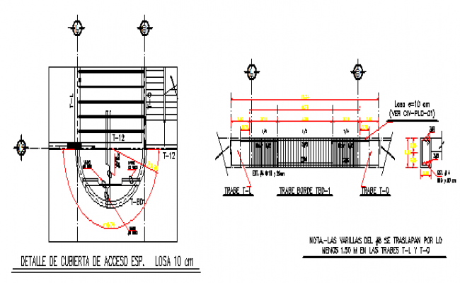 Armed trap Access cover detail design drawing