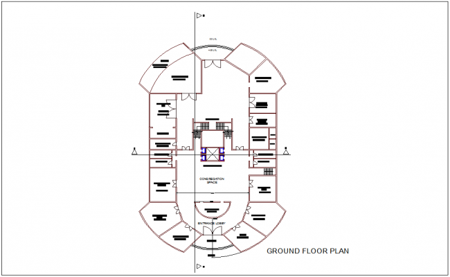 Art and heritage museum ground floor plan dwg file