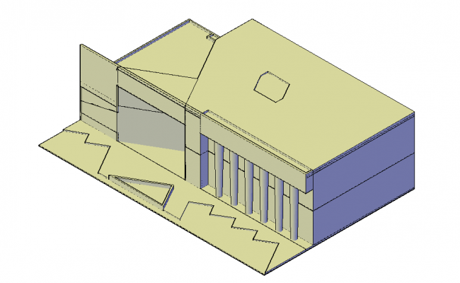 Art gallery architectural plan dwg file