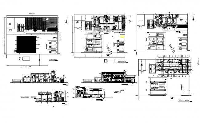 Artisan Center DWG file, Elevation for AutoCAD Format