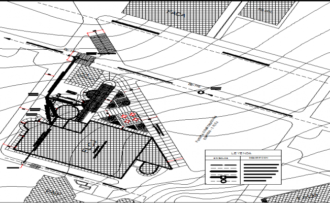 Arts and science college dwg file