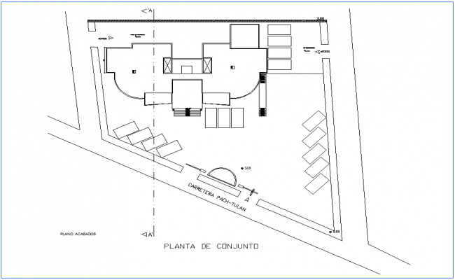Assembly finish plan of office dwg file