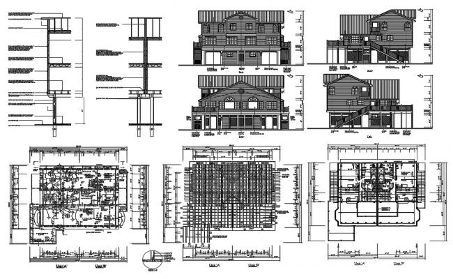 Attic House Plan And Elevation Design DWG File