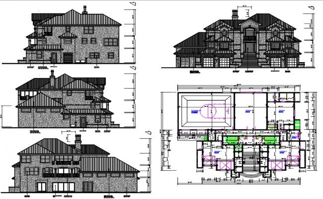Attic House Project AutoCAD File