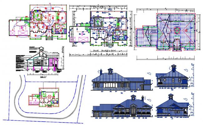 Attic House Project AutoCAD drawing Fil
