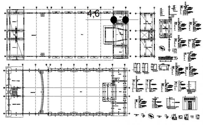 Auditorium Beam And Structure Drawing