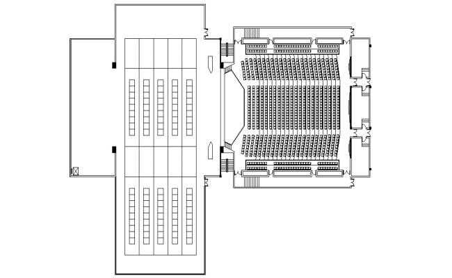 Auditorium Building Layout Plan