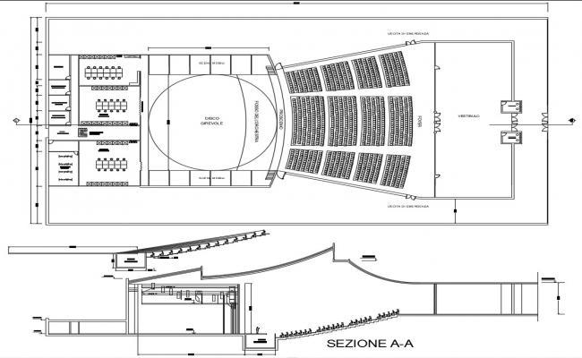 Auditorium Building Plan