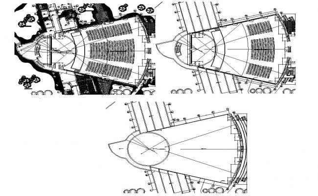 Auditorium Design Plan DWG File