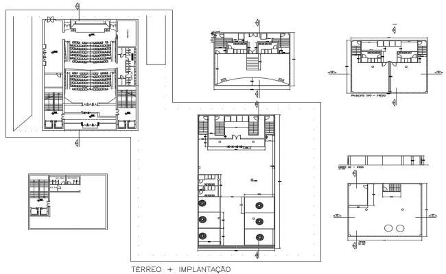 Auditorium Hall CAD Drawing