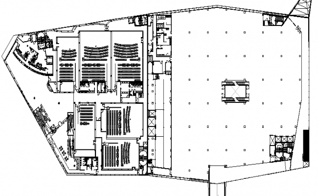 Auditorium Hall layout plan
