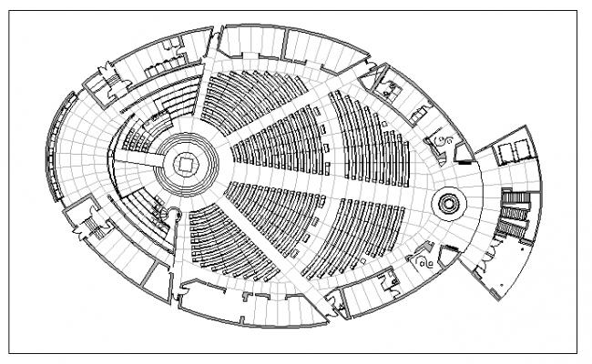 auditorium hall layout plan dwg file