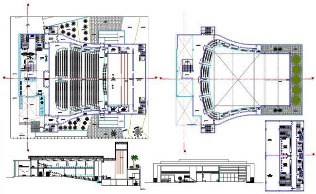 Auditorium Plan With Dimensions DWG File