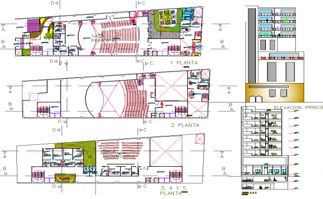Auditorium Project autocad file