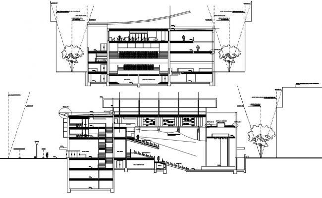 Auditorium Section Plan AutoCAD File