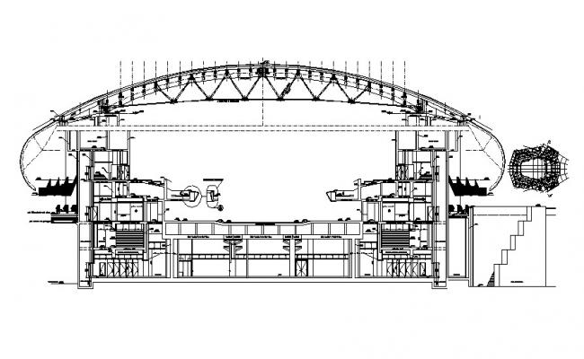 Auditorium Shed Roof Cross Section DWG File