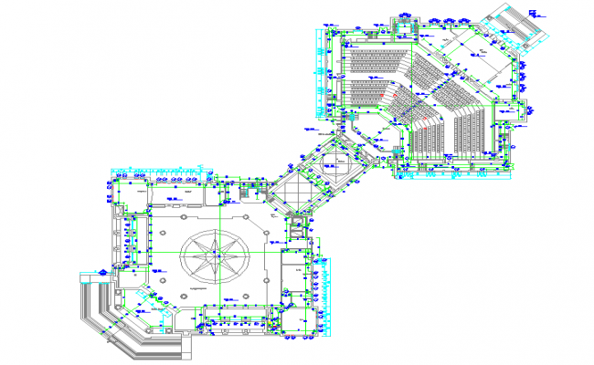Auditorium design plan autocad File