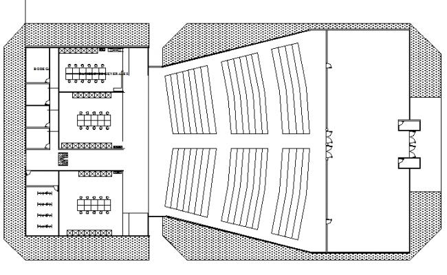 Auditorium hall architecture layout plan dwg file