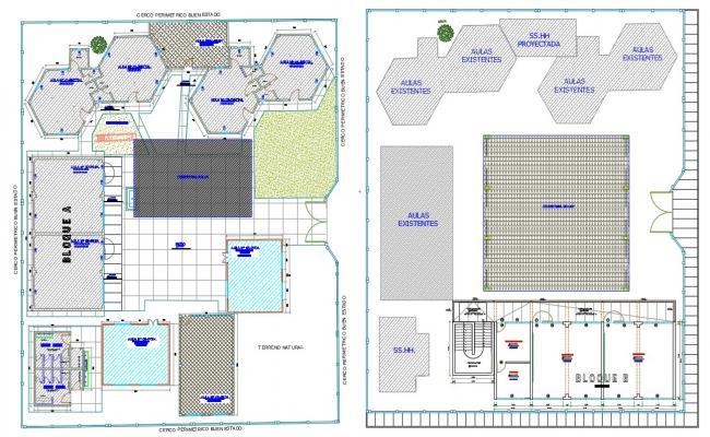 Aulas Master Plan CAD Drawing DWG File