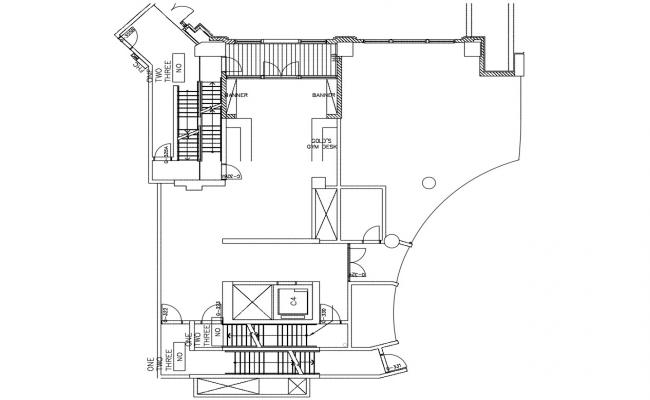 AutoCAD 2D Drawing Floor Plan Of GYM CAD File Free Download