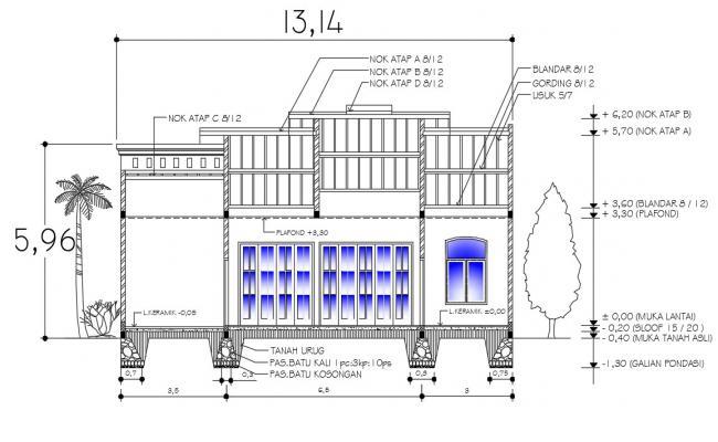 AutoCAD Building Section Design Download