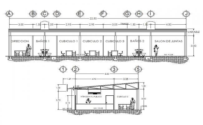 AutoCAD Building section detail drawing