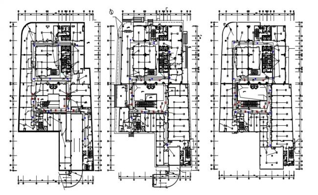 AutoCAD Drawing Commercial Building Floor Plan DWG  File