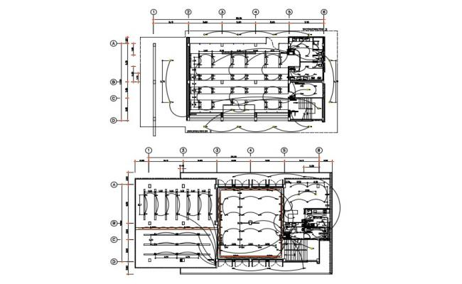 AutoCAD Drawing Electric Plan Of banquet hall DWG File