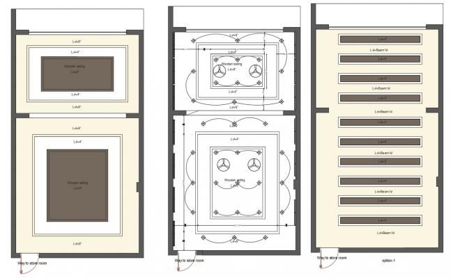 AutoCAD Drawing Of Shop Ceiling Design With Electrical Layout DWG File